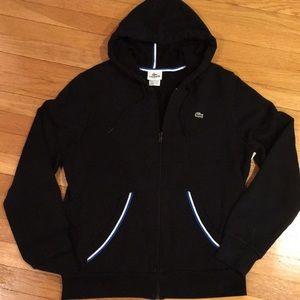 Lacoste full zip hooded sweatshirt Sz. 5/M